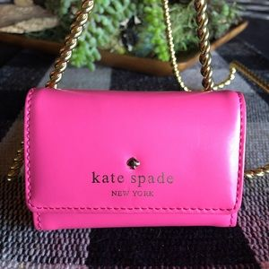 Kate Spade Hot Pink Leather Credit Card Case